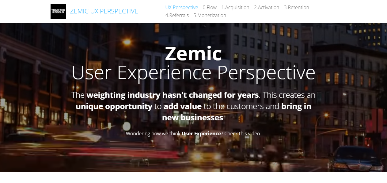 Zemic User Experience Perspective by Trusted Rebels