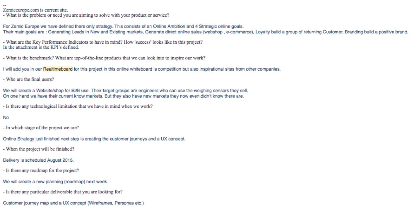 The original email
